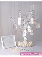 Dekoračný stromček biely