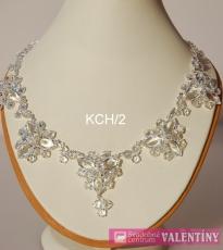 svadobný krištáľový náhrdelník trojkameň set
