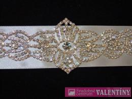 Luxusný svadobný opasok štrasový