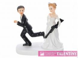 svadobné postavičky na tortu