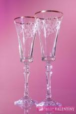 Svadobné poháre so zlatým lemom