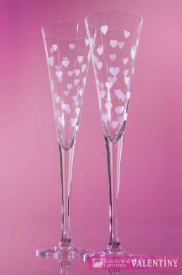 Srdiečkové svadobné poháre