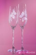 Motýľové svadobné poháre