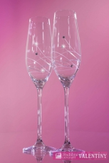 Svadobné poháre so swarovski komponents