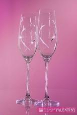 Jemne dekorované poháre so swarovski komponents
