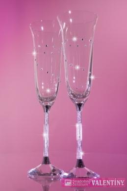 Luxusné krištáľové svadobné poháre