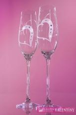 Exkluzívne srdiečkové poháre swarovski komponents
