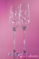 svadobné poháre srdiečko šprálka swarovski komponents