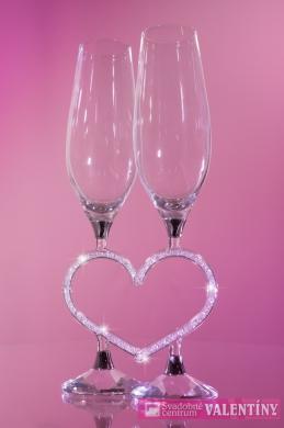 Luxusné krištáľové poháre