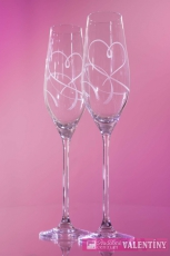 svadobné poháre gravírované