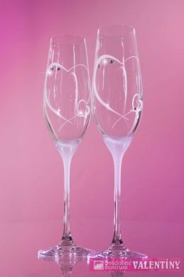 Svadobné poháre pieskované