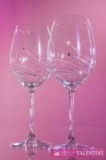 Svadobné poháre na červené víno