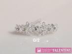 luxusný krištáľový náhrdelník trojkameň do sady