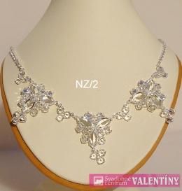 luxusný krištáľový náhrdeľník trojkameň