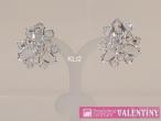 luxusný krištáľový náhrdelník trojkameň do setu