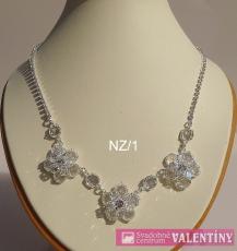 svadobný krištáľový náhrdelník do setu