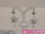 luxusný krištáľový náhrdelník kvetový