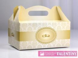 krabica na zákusky krémová s obrúčkami