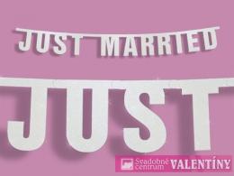 ,,JUST MARRIED,, dekorácia na fotenie
