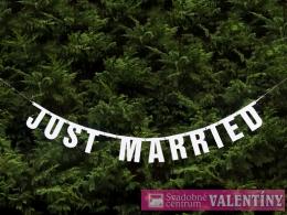"""Dekorácia na fotenie ,,Just Married"""" ligotavá"""