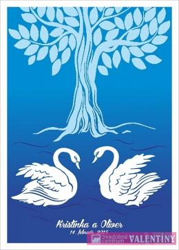 plagát rodinný strom labute