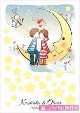 plagát zaľúbenci na mesiaci