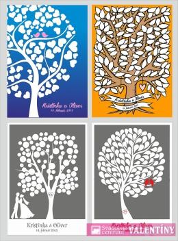 plagát rodinné stromy  výber